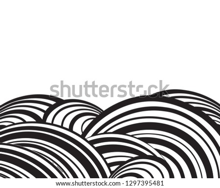 Abstract wavy background. Optical spripe pattern. Wavy black and white wallpaper