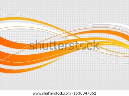abstract wavy background. Wavy lines on a gray dot background