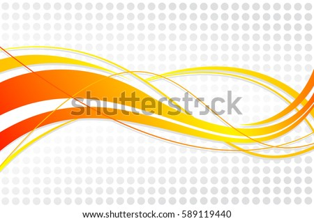 Abstract wavy background. Wavy lines on a gray dot background - Shutterstock ID 589119440