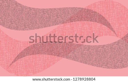 abstract wavy background. Wavy lines on a gray dot background - Vector