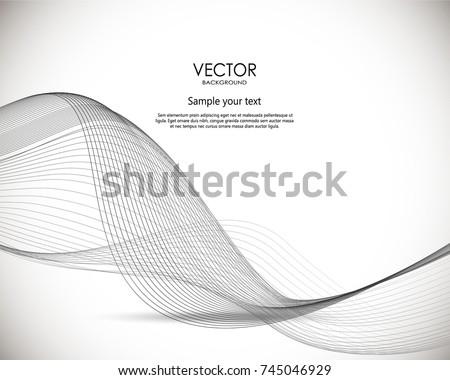 Abstract wavy digital background. Vector dynamic llustration