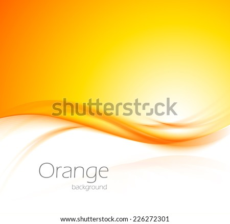 abstract wavy orange background