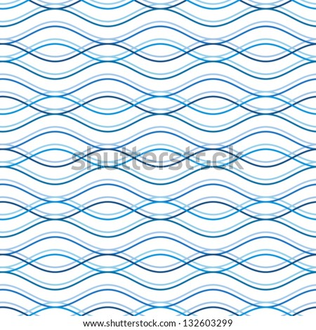 Abstract wavy seamless pattern, vector background