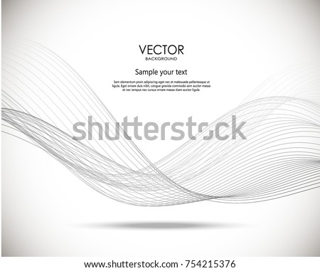 Abstract wavy vector background. Dynamic illustration