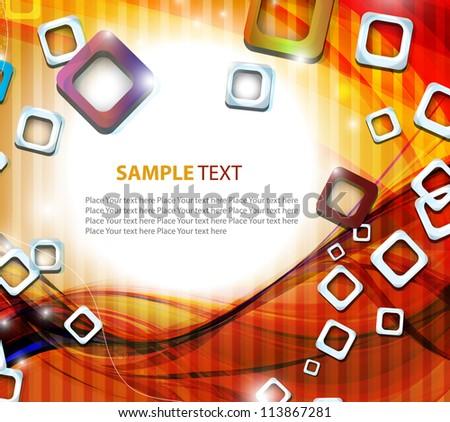 Abstract wavy vector design