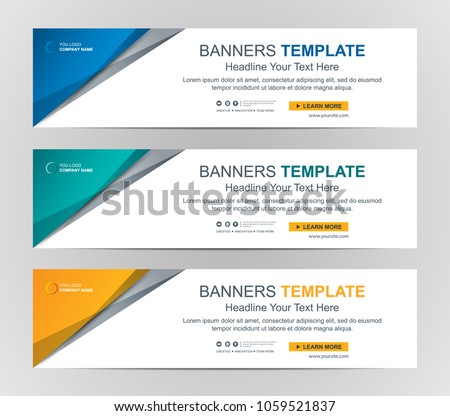 Abstract Web banner design background or header Templates #1059521837