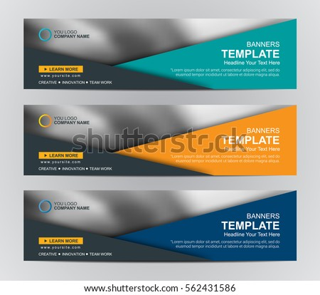 abstract web banner design background or header templates with w