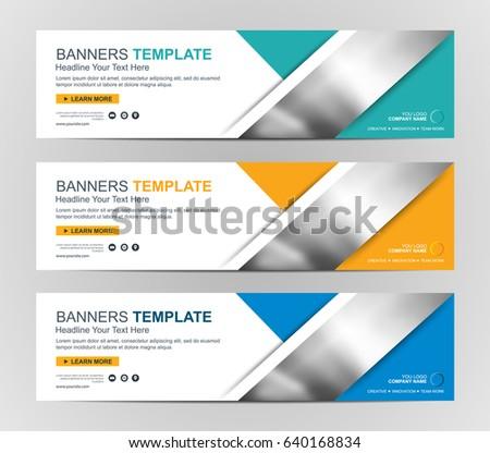 Banner-Design, Corporate Web-Header - Kostenlose Vektor-Kunst ...