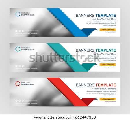 Corporate banner design template download free vector art stock abstract web banner design background or header templates maxwellsz