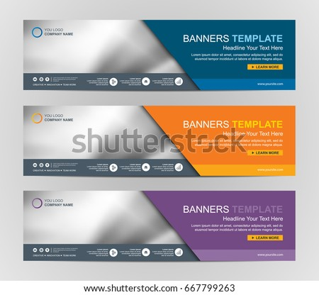Web banner graphics download free vector art stock graphics images abstract web banner design background or header templates maxwellsz