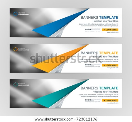 Abstract Web banner design background or header Templates #723012196
