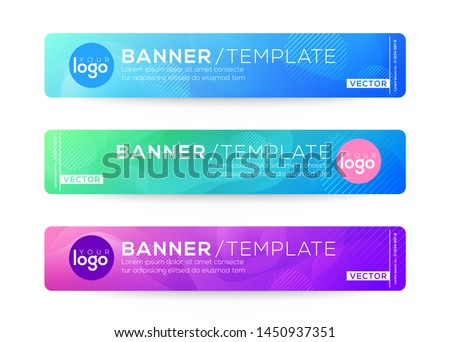 Abstract Web banner design background or header Templates. Fluid gradient shapes composition with colorful bright colors ストックフォト ©