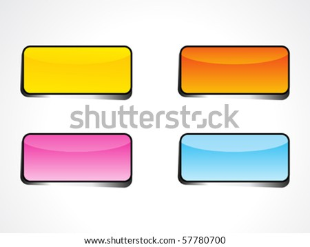 abstract web button  with diff rents colors vector illustration