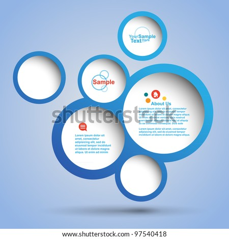 abstract web design bubble