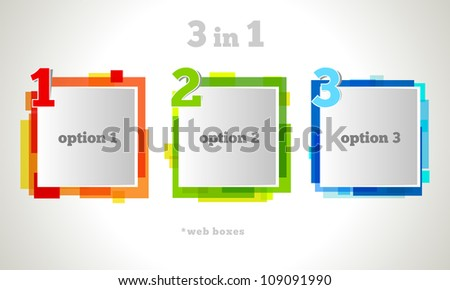 Abstract web design bubble. Vector business design.