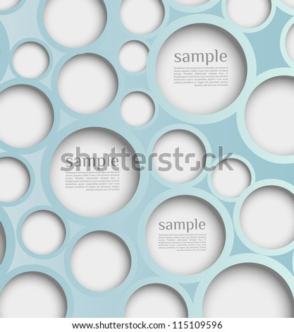 Abstract web design bubble with background. Design template /website layout vector