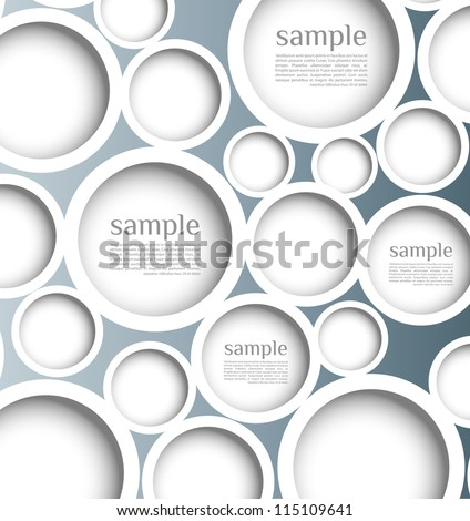 Abstract web design bubble with background. template, can be used for banners,  or website