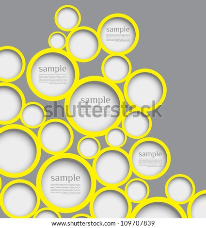 Abstract web design bubble with line background. can be used for website, info-graphics or banner