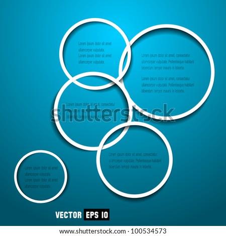 Abstract web design circles
