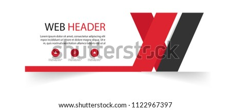 stock-vector-abstract-web-header-template-red-black-background-vector-image