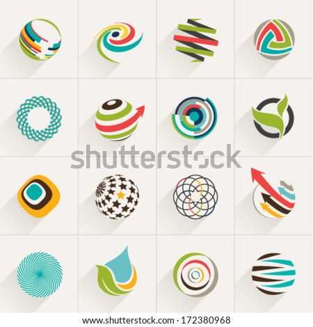 abstract web icons and globe