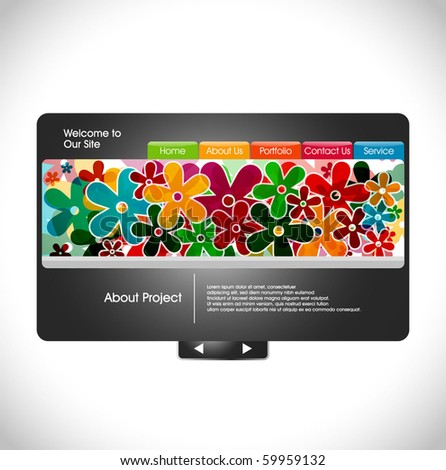 abstract web site design template, vector illustration.