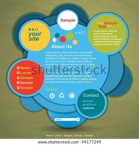 Abstract web site design vector template