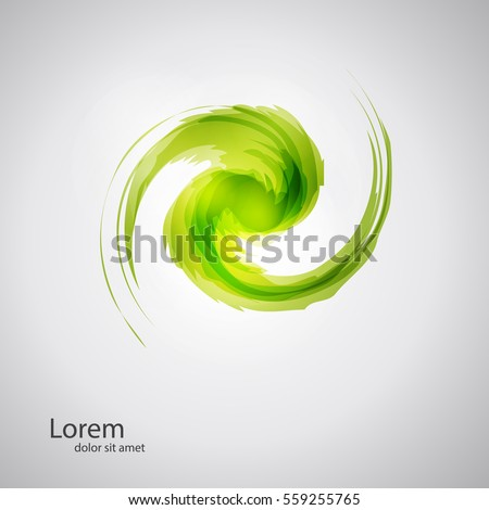 abstract whirl logo template