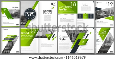 Abstract white a4 brochure cover design. Fancy info banner frame. Modern ad flyer text. Annual report binder. Title sheet model set. Fancy vector front page. City font blurb art. Green line figure.