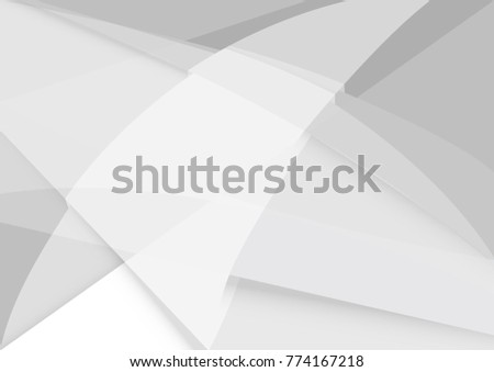 Abstract white and gray color technology modern background design vector Illustration #774167218