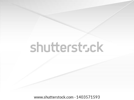 Abstract white and gray gradient color modern background design vector Illustration.geometrical design.
