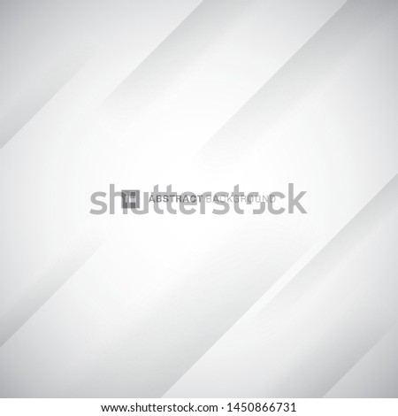 Abstract white and gray modern diagonal stripes background. Paper fold crease. You can use for cover design, poster, advertising. Vector illustration