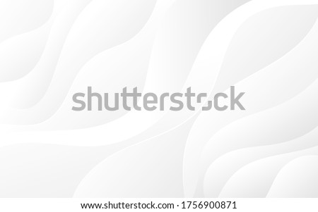 Abstract white and light gray wave modern soft luxury texture with smooth and clean vector subtle background ストックフォト ©