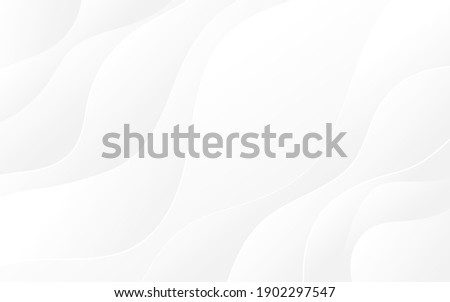 Abstract white and light gray wave modern soft luxury texture with smooth and clean vector subtle background illustration. ストックフォト ©