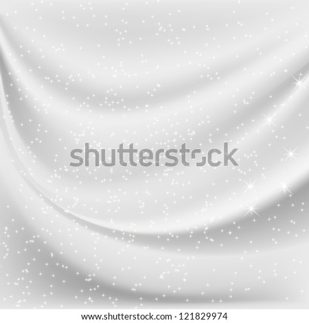 Abstract white background with Christmas snowflakes
