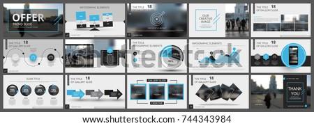 abstract white  blue  slides