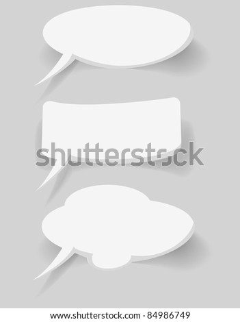 abstract white bubbles on blue background