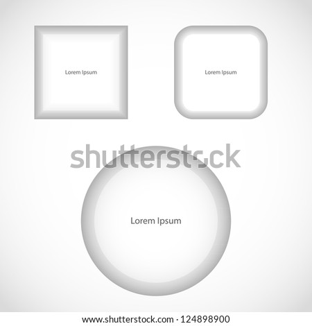 Abstract white buttons