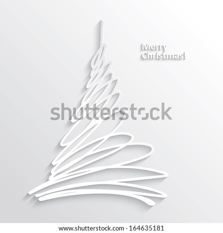 abstract white christmas tree