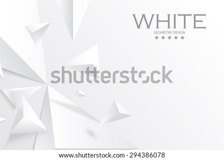 abstract white geometric 3d