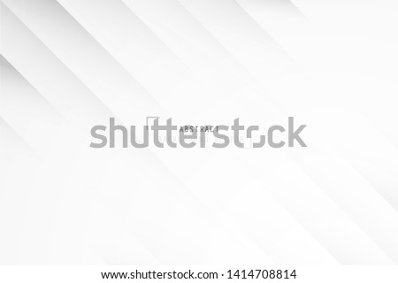 Abstract white geometric shape on white and gray background. Creative and Modern design in EPS10 vector illustration.