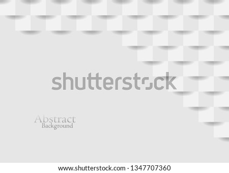 Abstract white modern square texture background, vector design.  #1347707360