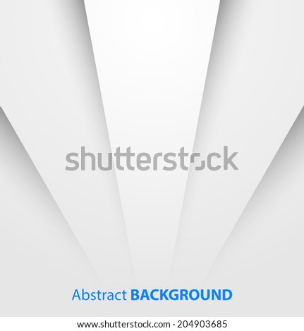 Abstract white paper background with shadow Vector illustration