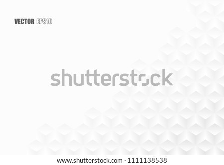 Abstract . white paper  crease patterns geometric background. design with light and shadow ,Vector #1111138538