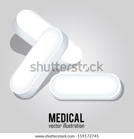 abstract white pills on special