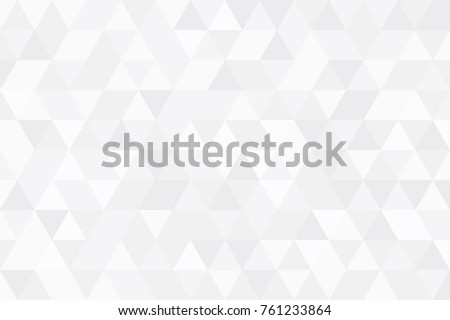 Abstract white retro pattern of geometric shapes. Minimal white triangle mosaic backdrop. Geometric hipster triangular background, Gradation vector   #761233864