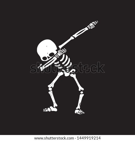 abstract white skeleton dab