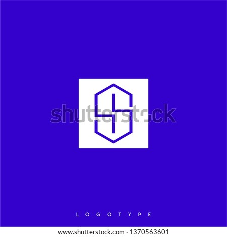 abstract white square with