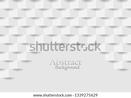 Abstract white squre texture backgroundvector design. #1339275629