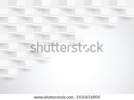 Abstract white texture background design. 3d paper for book, poster, flyer, cover, website, advertising. Vector illustration #1410656804